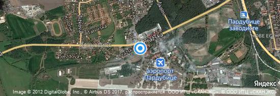 Аэропорт Пардубице - Карта