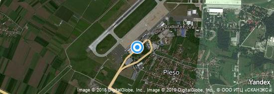 Aéroport de Zagreb-Pleso- carte