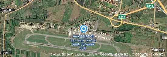 Aéroport de Lamezia Terme- carte