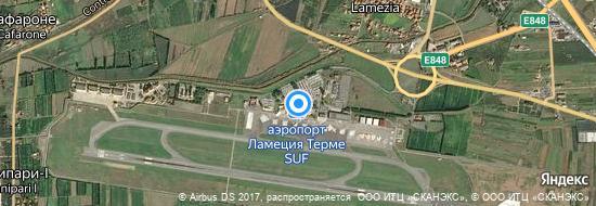 Аэропорт Ламеция-Терме - Карта