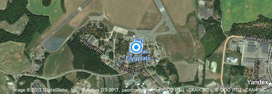 Flughafen Kalmar - Karte
