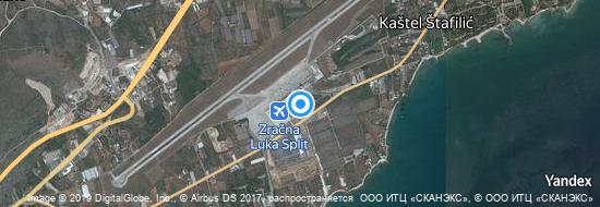 Aéroport de Split- carte
