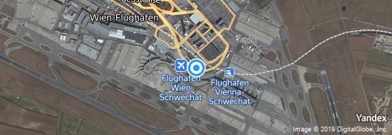 Flughafen Wien Schwechat - Karte