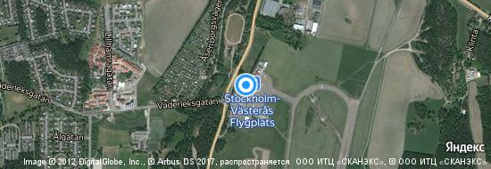 Flughafen Stockholm Västerås - Karte