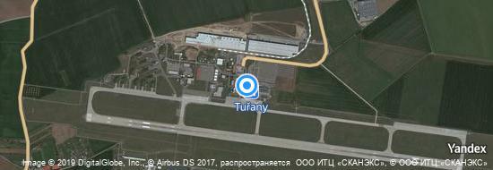 Aéroport de Brno-Tuřany- carte