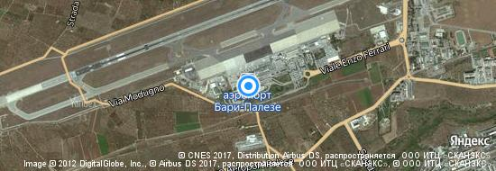 Аэропорт Бари - Карта