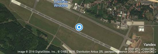 Flughafen Breslau - Karte