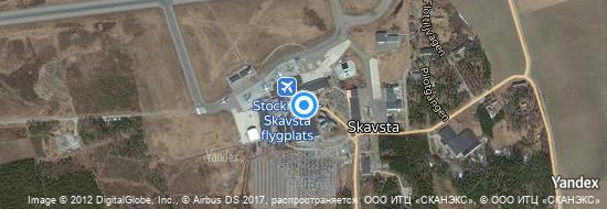 Aéroport de Stockholm-Skavsta- carte