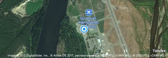 Flughafen Sundsvall - Karte