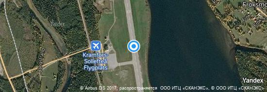 Flughafen Höga-Kusten - Karte