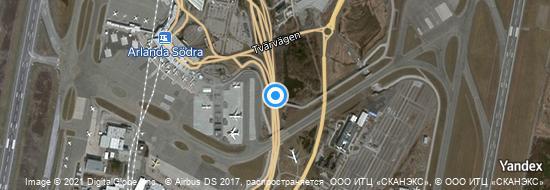 Flughafen Stockholm Arlanda - Karte