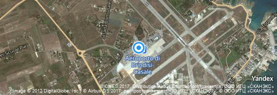 Aéroport de Brindisi-Salento- carte