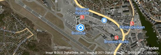 Airport Stockholm Bromma - Map