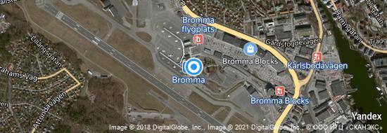 Aéroport de Stockholm-Bromma- carte