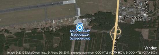 Aéroport de Bydgoszcz- carte