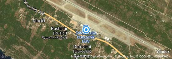 Flughafen Dubrovnik - Karte
