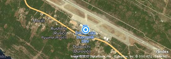 Aéroport de Dubrovnik- carte