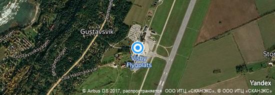 Aéroport de Visby- carte