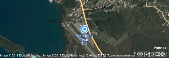 Aeropuerto Tivat - mapa