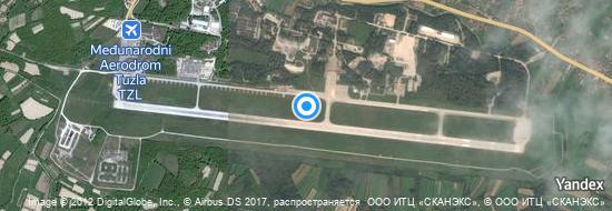 Aéroport de Tuzla- carte