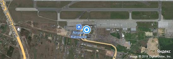 Flughafen Kattowitz - Karte