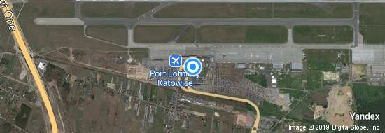 Aéroport de Katowice-Pyrzowice- carte