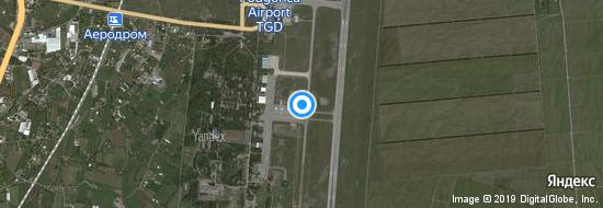 Flughafen Podgorica - Karte
