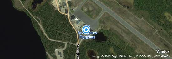 Aéroport d'Arvidsjaur- carte