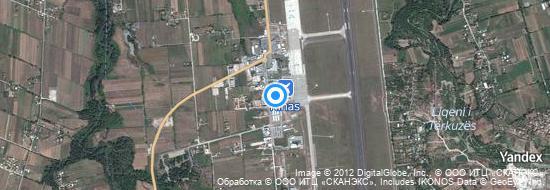 Aéroport de Tirana Rinas- carte