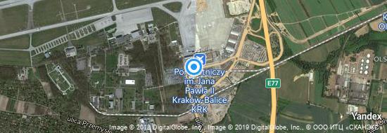 Flughafen Krakau - Karte