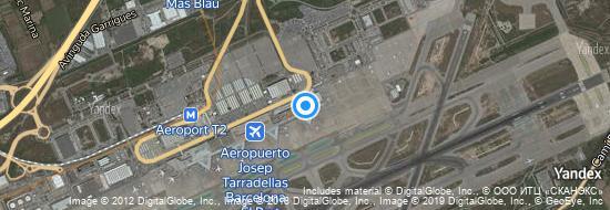 Aéroport de Barcelone-El Prat- carte