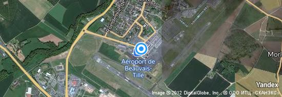 Aéroport de Paris Beauvais Tillé- carte