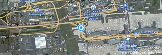 Aeropuerto Paris CDG - mapa