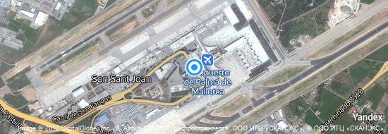 Aeropuerto Palma de Mallorca - mapa