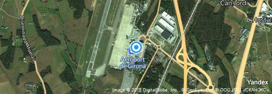 Aéroport de Gérone-Costa Brava- carte