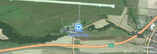 Flughafen Poprad - Karte