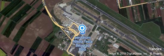 Flygplats Belgrad - Karta