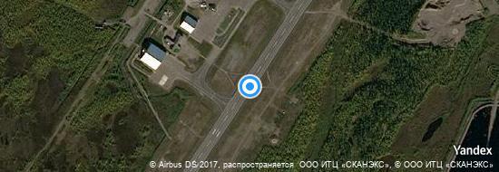 Aéroport de Kiruna- carte