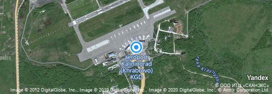 Flughafen Kaliningrad - Karte