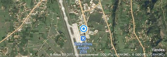 Aéroport de Zante-Dionýsios-Solomós- carte