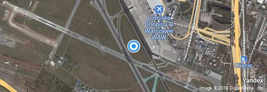 Flughafen Warschau Chopin - Karte