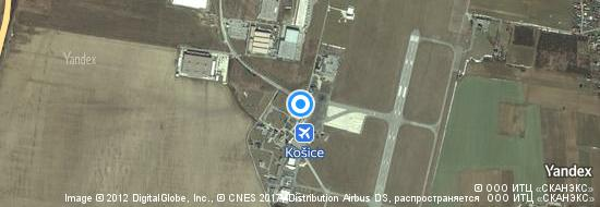 Airport Kosice - Map