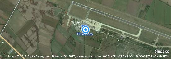Flughafen Timisoara - Karte