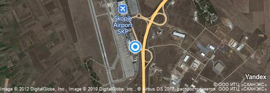 Aéroport de Skopje-Alexandre le Grand- carte