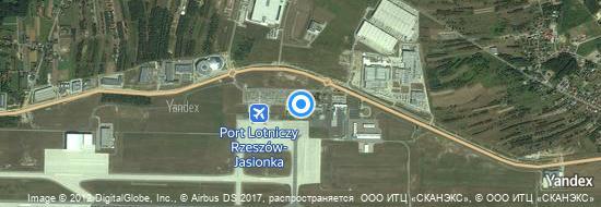 Flughafen Rzeszow - Karte