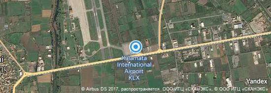 Flughafen Kalamata - Karte
