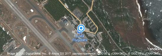Aéroport de Luleå- carte