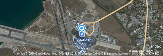 Flughafen Thessaloniki - Karte
