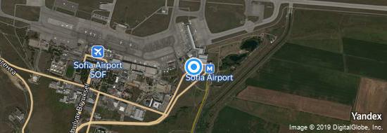 Flughafen Sofia - Karte
