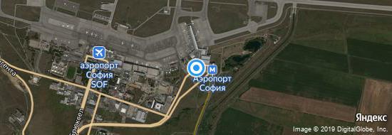 Аэропорт София - Карта